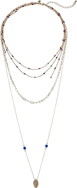Beachy Layered Chains Necklace