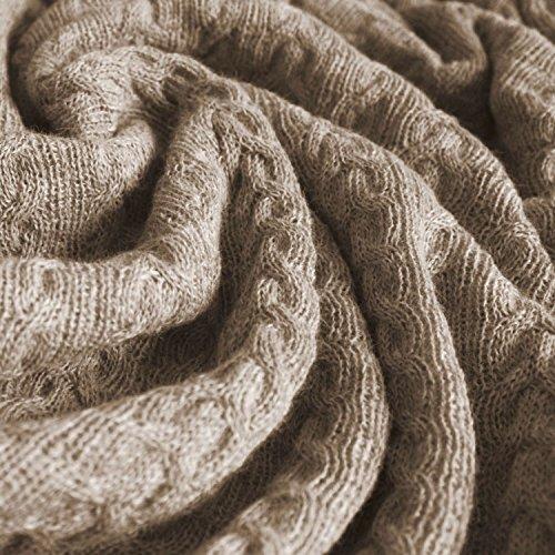 Lorenzo Cana Voluminöse Luxus Alpakadecke aus 100% Alpaka - Wolle vom Baby - Alpaka Fair Trade Decke Wohndecke gestrickt Sofadecke Tagesdecke Kuscheldecke 9618877