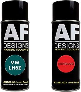 Alex Flittner Designs Autolack Spraydose Set geeignet für VW/Volkswagen Bambusgarden Green Metallic LH6Z Basislack Klarlack Sprühdose 400ml