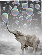 Cloud Dream Home Flannel Blanket,Funny Animal Elephant Throw Luxury Blanket Reversible Fuzzy Microfiber All Season Blanket for Child and Adults 60
