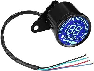 Keenso Aluminiumlegierung /Ölstandanzeige Messstab Temperatur mit Thermometer f/ür 125cc Motorrad Schwarz