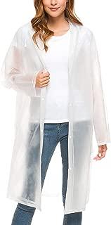 ZHENWEI Womens' Rain Coats Rain Jacket EVA Portable Thicken Rainwear Hood