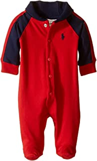Baby Boys Cotton Shawl-Collar Coverall
