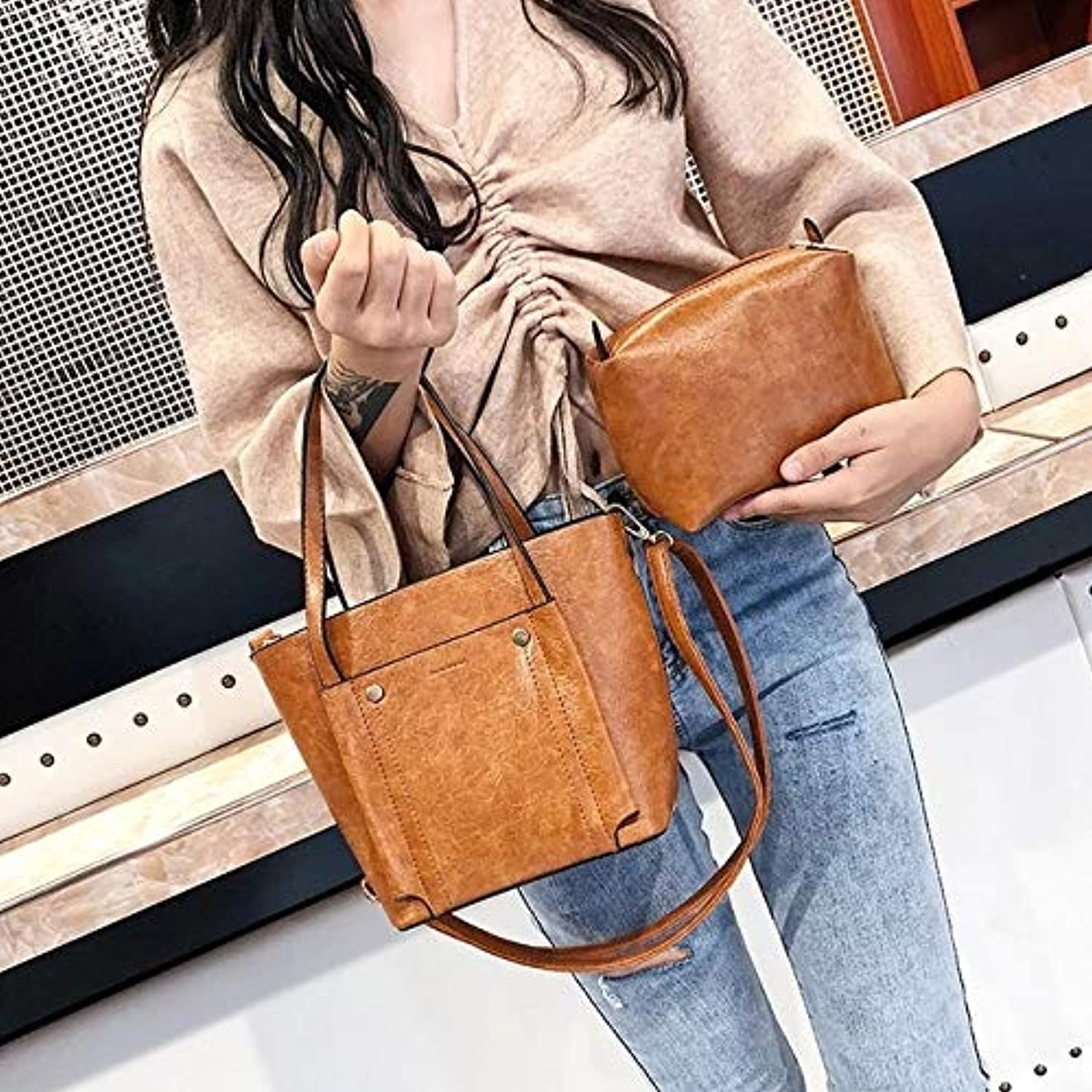 Vintage Shoulder Bag 2pcs Set 3 color Choice