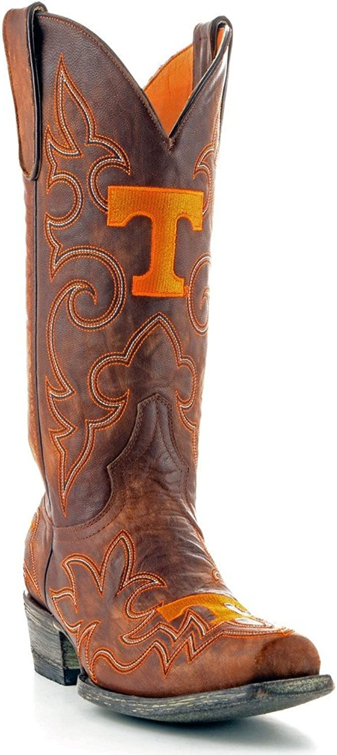 Handmade College Football Basketball NFL Game Tailgater MSU Brown Boots 9