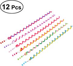 Clip de la arcilla de la arcilla del polímero del bigudí del rodillo del arco iris de las muchachas de las mujeres del tornado del pelo 12pcs para el pelo que labra (color al azar)