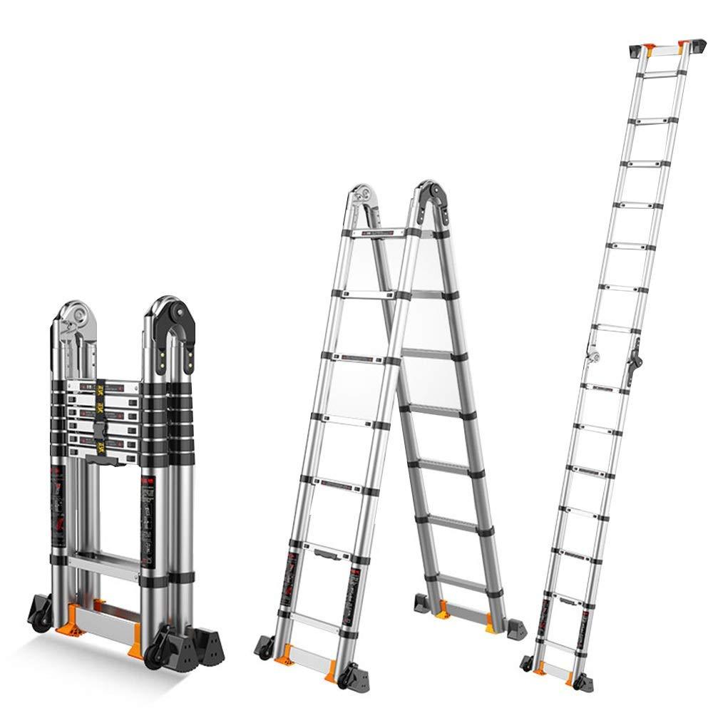 ZR- Escalera Telescópica Multifunción, Escalera Marco Plegable