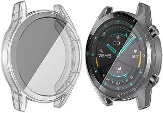 كفر حماية لكامل الساعة - ساعة هواوي جي 2 - 46 مم - شفاف