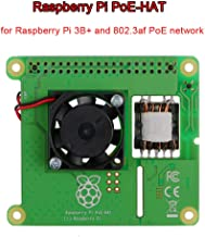 MakerFocus Raspberry Pi Power Over Ethernet Poe Hat Expansion Board(Raspberry Pi HAT Expansion Board) for Raspberry Pi 3 B+, with Brushless Cooling Fan, Supporting 802.3af Network Standard