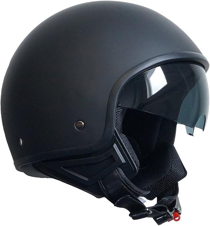 Jethelm Helm Motorradhelm Rollerhelm Mit Sonnenblende Chopper Rallox 710 Schwarz Matt S M L Xl S Auto