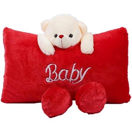 Richy Toys Stuffed Soft Plush Teddy Pillow (Red)