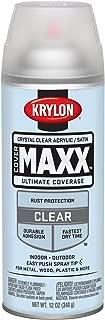 Krylon K09163000 COVERMAXX Spray Paint, Satin Crystal Clear Acrylic, 11 Ounce
