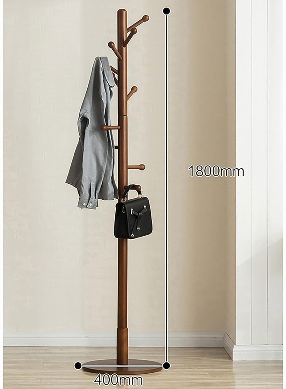 Coat Rack Solid Wood Coat Rack Landing Hanger Bedroom Clothes Rack Simple Single Pole Living Room Hallway Creative Hanger (color   B)