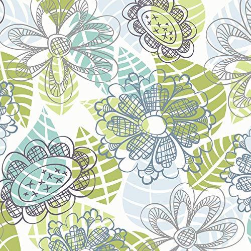 FORWALL AMF11279_VEN Papier Peint Photo Non tissé Motif Feuilles de Fleurs et Feuilles de Papier Peint Moderne, Non-tissé, coloré, V8 (368cm. x 254cm.)