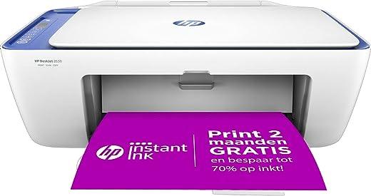 HP DeskJet 2630 All-in-One, Draadloze Wifi kleuren inktjet printer voor thuis (Printen, kopiëren, scannen) Inclusief 6 maanden Instant Ink