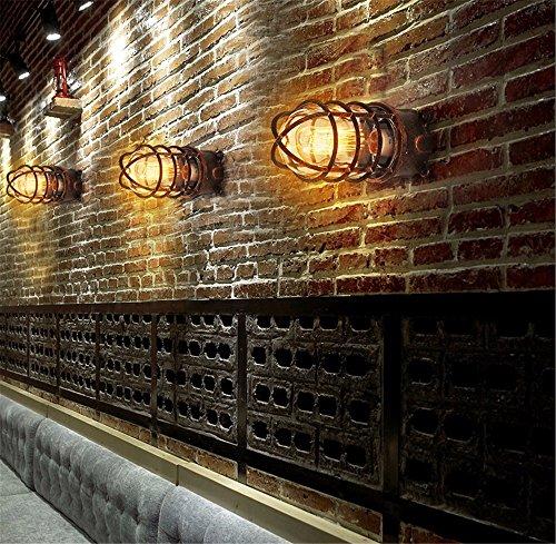 Lampe de mur Vintage appliques murales en fer forgé industriel loft lampe couloir du vent le couloir extérieur lampe murale appliques étanches,10 * 22cm