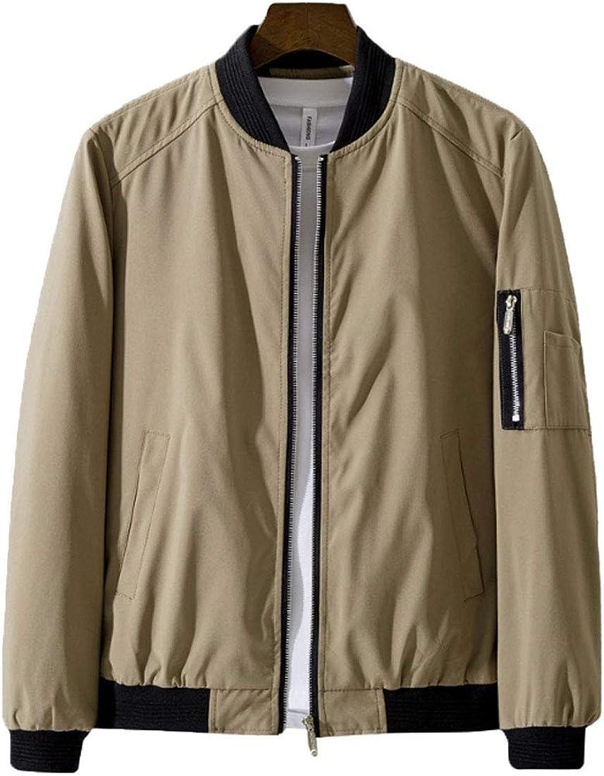 HZCX FASHION Men's Slim Fit Lightweight Zipper Softshell Bomber Jacket Coat