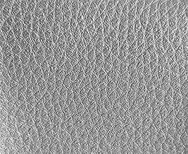 0,50 METROS de Polipiel para tapizar, manualidades, cojines o forrar objetos. Venta de polipiel por metros. Diseño Foamizada Júpiter Color Plata ancho 140cm