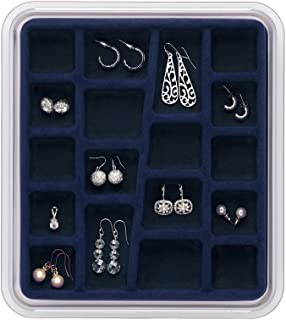 Neatnix STAX Jewelry Organizer Tray, Midnight Blue, 18 Compartments