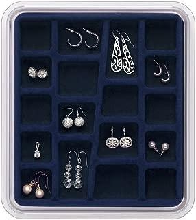 Neatnix STAX Jewelry Organizer Tray, 18 Compartments, Midnight Blue