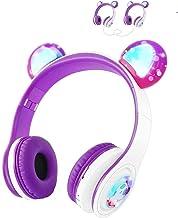Kids Wireless Headphones WOICE, Bluetooth Headphones 85dB Volume Limiting, LED Lights & Music Sharing Function, Girls Boys...