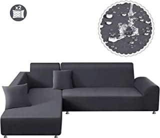 TAOCOCO Waterproof Sectional Couch Covers 2pcs L Shape...