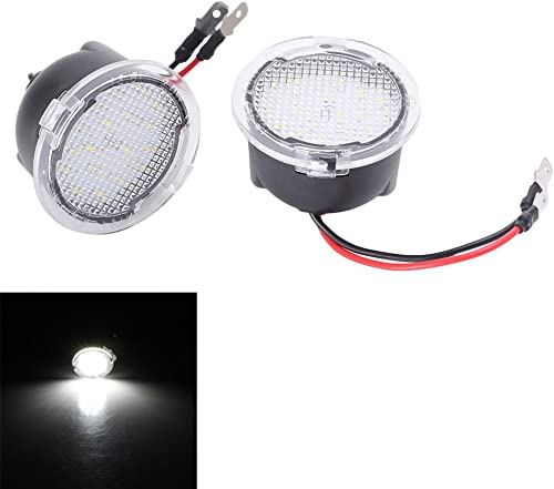wholesale Mallofusa 2pcs new arrival High Power LED Puddle Lights popular Under Side Mirror Tow for Ford F150 Raptor Explorer Fusion Edge Flex Expedition Mondeo Taurus Mustang Ranch Heritage (White) online