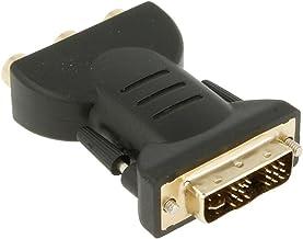 Adaptador DVI-I (18+5) Macho a 3 RCA Hembra, Señal Digital y Analógica, Conexión Digital