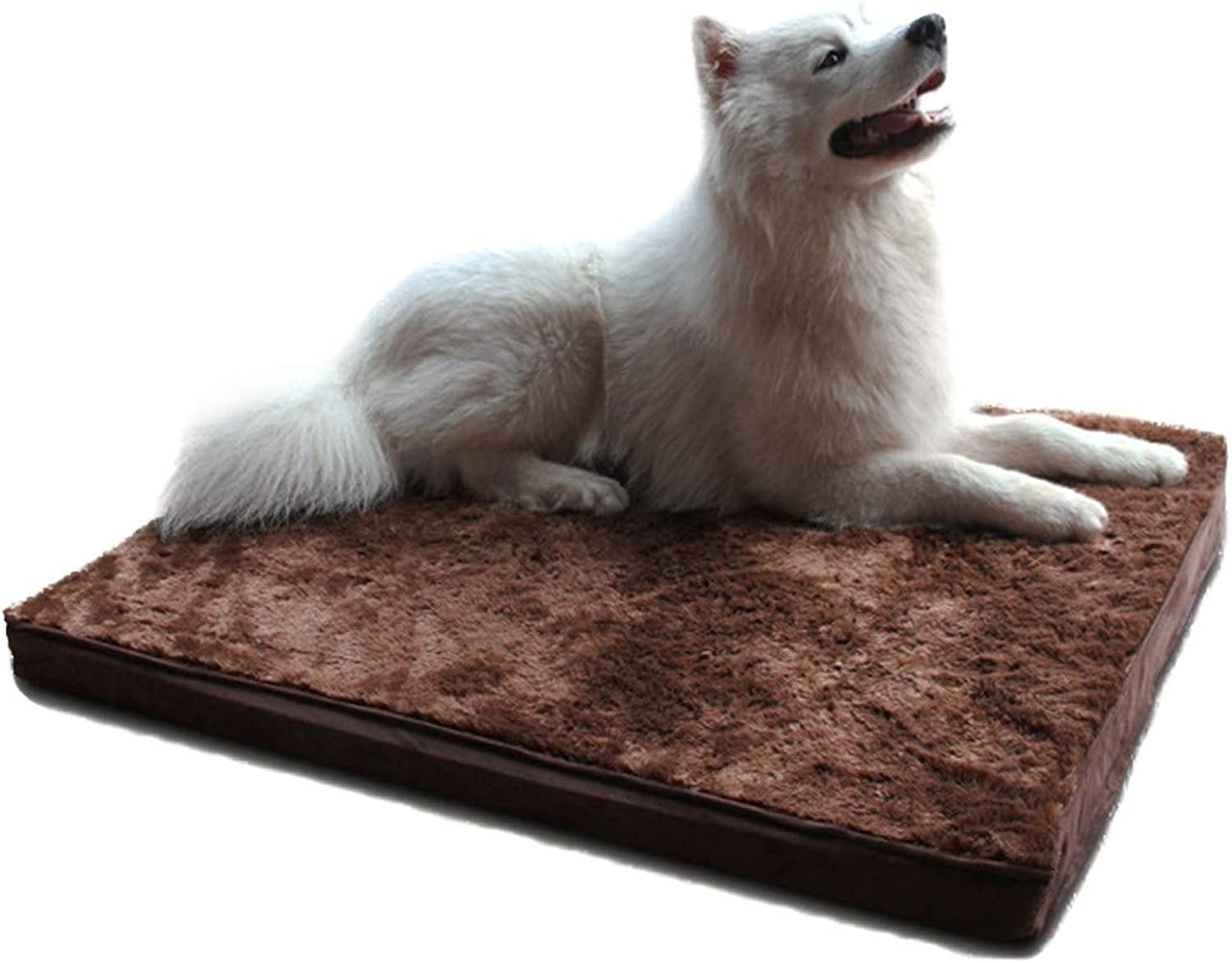 BYCWS Orthopedic Top Pet Bed with Memory Foam and Removable Cover by Big Dogs Mat Bed Environmental Predection Dog Pet Cat Bed House Mat