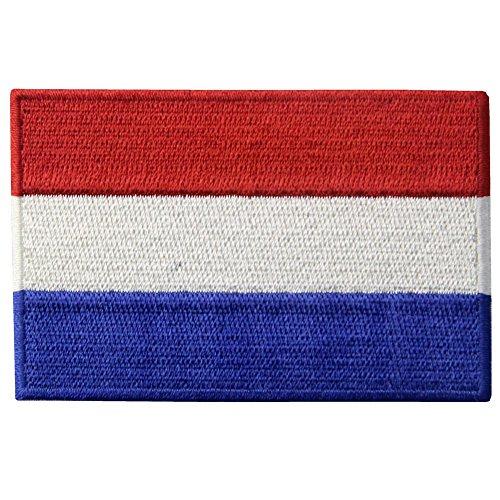 Die niederländische Flagge Bestickter Aufnäher zum Aufbügeln/Annähen