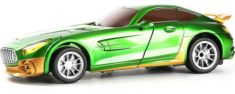 PETRLOY greene Fernbedienung verwandelt sich in Auto ShapeShiftAktion 1 12 Proportion Simulation Auto RC Auto One Button Deformation Kinder Interaktive Kinder Roboter Auto 360 ° drehbare Spielzeug fü