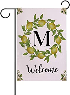 7ColorRoom Welcome Garden Flags مزدوجة الجوانب أعلام الحديقة رسالة M/ليمونز إكليل مزرعة ساحة ديكور خارجي حديقة صغيرة العلم...