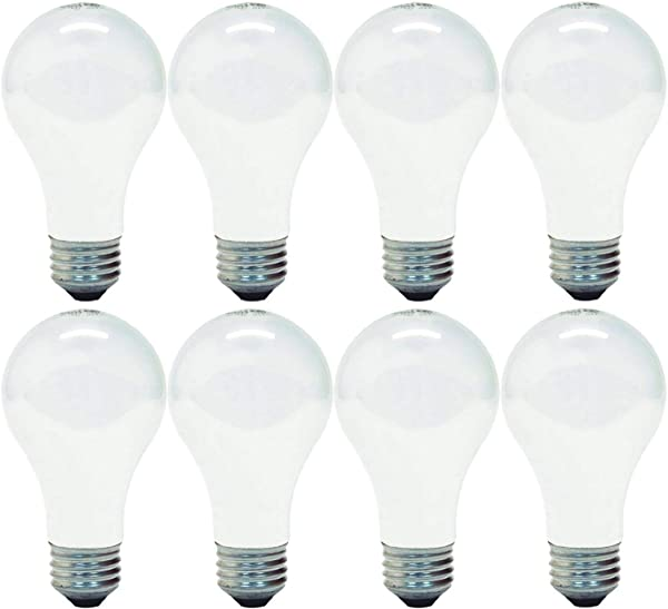 GE 714270019272 66249 Soft White 100 Replacement Uses Only 72 Watts 1270 Lumen A19 Light Bulb With Medium Base 8 Pack