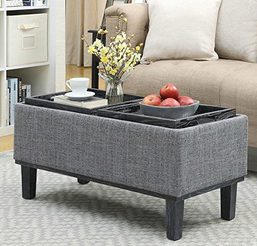 Furniture Of Home Storage Ottoman Coffee Table Modern Eco Friendly With Reversible Tray Tops Buy Online In Guernsey At Guernsey Desertcart Com Productid 100489487