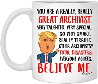 Great Archivist Gifts for Birthday Ideas, Funny Mugs for Coworkers, Christmas Presents for Men Women Coffee Cup White 11oz