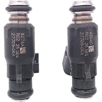 2pcs Fuel Injector Fits for 06-15 Harley Davidson Motorcycle 25 Degree 27709-06A Germban