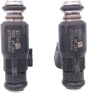 JESBEN 2pcs Set Fuel Injectors 6 Holes Fit For Harley Davidson Dyna Motorcycle Engine 25 Degree 2007-2015 27709-06A