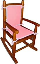 Baby Doll Bedding Solid Reversible Junior Rocking Chair Pads, Pink/Lavender