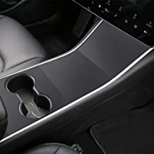 Tesla Model 3 Center Console Leather Wrap Kit Matte Black Leather Sticker for Tesla Model 3 Console Protector Accessories