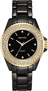 MESTIGE Womens Quartz Watch, Analog Display and Brass Strap MSWA3188