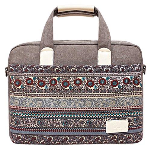 14 Zoll Bohème Stil Laptop Tasche mit Schultergurt,Hülle Tasche Aktentasche für Laptops/Notebook/Acer/Lenovo
