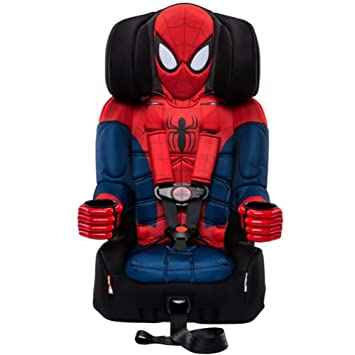 KidsEmbrace 2-in-1 Harness Booster Car Seat, Marvel Spider-Man , Black: image