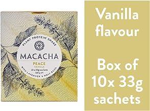 MACACHA – Peace Natural Calming Properties Box – Vegan Protein Powder – 10x33g Sachets Estimated Price : £ 29,00