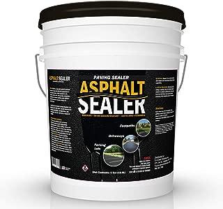 Premium Driveway Sealer & Asphalt Sealer | Sealer for Driveways Blacktop & Asphalt | Commercial Grade - 5 Gallon