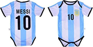 Leo Messi #10 Argentina Soccer Jersey Baby Infant & Toddler Onesie Romper Premium Quality