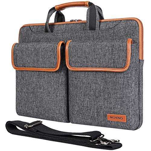 MCHENG 17-17.3 Inch Laptop Case Shoulder Messenger Bag, Lightweight Laptop Computer Notebook Carrying Case Sleeve Handbag for Men Women Fit for Acer/Asus/HP/Toshiba, Black
