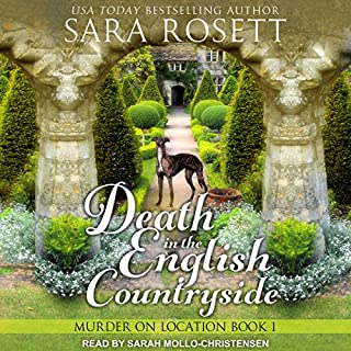 Death in the English Countryside     Murder on Location Series, Book 1              Written by:                                                                                                                                 Sara Rosett                               Narrated by:                                                                                                                                 Sarah Mollo-Christensen                      Length: 6 hrs and 54 mins     1 rating     Overall 4.0