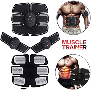 Muscle Toner, Aptoco Abs Simulator Abdominal Toning Belt Workouts Abs Trainer Fitness Training Gear Machine Ab Workout Equipment for Men Women