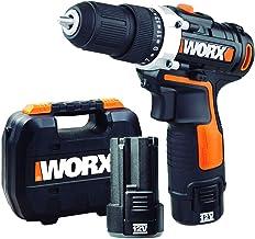 WORX WX128.3 Taladro Atornillador 12V 2Ah 2bat, 12 W, 12 V, Negro