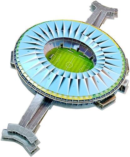 para proporcionarle una compra en línea agradable Estadio Deportivo Modelo 3D, Campo Campo Campo de fútbol de Brasil Maracaná con Luces LED, Modelo Artificial, Ventilador de Recuerdo, Rompecabezas de DIY, 39 × 23  × 4   muy popular